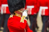 The Colonel's Review 2013: The Field Officer in Brigade Waiting, Lieutenant Colonel Dino Bossi, Welsh Guards, saluting Her Majesty during the March Past.. Horse Guards Parade, Westminster, London SW1,  United Kingdom, on 08 June 2013 at 11:37, image #659