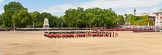 The Colonel's Review 2013: The Massed Bands, in the centre of Horse Guards Parade during the March Past, with the guards, on the very right of the image, march around them.. Horse Guards Parade, Westminster, London SW1,  United Kingdom, on 08 June 2013 at 11:40, image #674