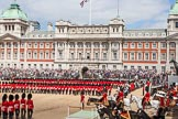 The Colonel's Review 2013: The March Past in Quick Time - No. 1 to No. 3 Guard marching past the dais.. Horse Guards Parade, Westminster, London SW1,  United Kingdom, on 08 June 2013 at 11:44, image #696