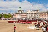The Colonel's Review 2013: Wide angle overview of Horse Guards Parade during the March Past in Quick Time.. Horse Guards Parade, Westminster, London SW1,  United Kingdom, on 08 June 2013 at 11:45, image #698