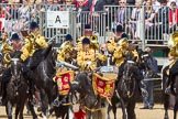 The Colonel's Review 2013: The Ride Past - the Mounted Bands of the Household Cavalry move, from the eastern side, onto Horse Guards Parade.. Horse Guards Parade, Westminster, London SW1,  United Kingdom, on 08 June 2013 at 11:50, image #720
