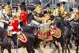 The Colonel's Review 2013: The Ride Past - the Mounted Bands of the Household Cavalry move, from the eastern side, onto Horse Guards Parade.. Horse Guards Parade, Westminster, London SW1,  United Kingdom, on 08 June 2013 at 11:50, image #721