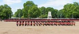 The Colonel's Review 2013: The Massed Band march away to leave room for  the Mounted Bands.. Horse Guards Parade, Westminster, London SW1,  United Kingdom, on 08 June 2013 at 11:49, image #714
