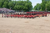 The Colonel's Review 2013: The Massed Band march away to leave room for  the Mounted Bands.. Horse Guards Parade, Westminster, London SW1,  United Kingdom, on 08 June 2013 at 11:50, image #716