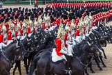 The Colonel's Review 2013: The First and Second Divisions of the Sovereign's Escort, The Life Guards, during the Ride Past.. Horse Guards Parade, Westminster, London SW1,  United Kingdom, on 08 June 2013 at 11:53, image #739