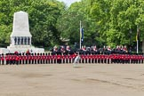 The Colonel's Review 2013: The Household Cavalry is getting back to their initial position on the norther side of Horse Guards Parade.. Horse Guards Parade, Westminster, London SW1,  United Kingdom, on 08 June 2013 at 11:59, image #789