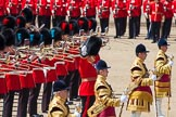 The Colonel's Review 2013: The Senior Director of Music, Lieutenant Colonel S C Barnwell, Welsh Guards, conducting.. Horse Guards Parade, Westminster, London SW1,  United Kingdom, on 08 June 2013 at 12:01, image #800
