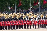 The Colonel's Review 2013: The Mounted Bands of the Household Cavalry are ready to leave, they follow the Royal Horse Artillery to march off via The Mall.. Horse Guards Parade, Westminster, London SW1,  United Kingdom, on 08 June 2013 at 12:02, image #807