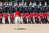 The Colonel's Review 2013: The six guards change formation, from a long, L-shaped line of guardsmen to six divisions.. Horse Guards Parade, Westminster, London SW1,  United Kingdom, on 08 June 2013 at 12:03, image #809