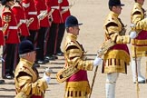 The Colonel's Review 2013: The Drum Majors during the March Off.. Horse Guards Parade, Westminster, London SW1,  United Kingdom, on 08 June 2013 at 12:06, image #821