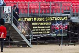 Advertising 'Beating Retreat' on the grandstands around Horse Guards Parade