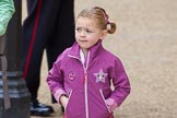 Major General's Review 2013: A very young female spectator arriving at Horse Guards Parade for the Major General's Review.. Horse Guards Parade, Westminster, London SW1,  United Kingdom, on 01 June 2013 at 09:16, image #3