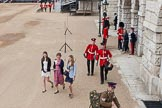 Major General's Review 2013: The first spectators arriving at Horse Guards Parade.. Horse Guards Parade, Westminster, London SW1,  United Kingdom, on 01 June 2013 at 09:19, image #5
