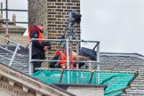 Major General's Review 2013: A BBC/SIS camera next to the chimney on the roof of the Cabinet Office.. Horse Guards Parade, Westminster, London SW1,  United Kingdom, on 01 June 2013 at 09:46, image #13
