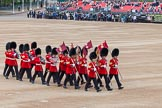 Major General's Review 2013: The 'Keepers of the Ground', guardsmen bearing marker flags for their respective regiments,march on to Horse Guards Parade.. Horse Guards Parade, Westminster, London SW1,  United Kingdom, on 01 June 2013 at 09:54, image #21