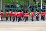 Major General's Review 2013: Musicians of the Band of the Coldstream Guards marching on Horse Guards Road.. Horse Guards Parade, Westminster, London SW1,  United Kingdom, on 01 June 2013 at 10:12, image #37