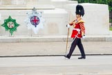 Major General's Review 2013: Senior Drum Major Matthew Betts, Grenadier Guards, leading the Band of the Coldstream Guards.. Horse Guards Parade, Westminster, London SW1,  United Kingdom, on 01 June 2013 at 10:12, image #39