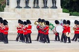 Major General's Review 2013: Musicians of the Band of the Coldstream Guards marching on Horse Guards Road.. Horse Guards Parade, Westminster, London SW1,  United Kingdom, on 01 June 2013 at 10:13, image #42