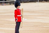 "Major General's Review 2013: Each of the Guards Bands has a ""position marker"" on Horse Guards Parade, here a musician for the Band of the Scots Guards.. Horse Guards Parade, Westminster, London SW1,  United Kingdom, on 01 June 2013 at 10:13, image #43"