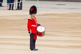 "Major General's Review 2013: Each of the Guards Bands has a ""position marker"" on Horse Guards Parade, here a musician for the Band of the Coldstream Guards.. Horse Guards Parade, Westminster, London SW1,  United Kingdom, on 01 June 2013 at 10:13, image #44"