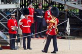 Major General's Review 2013: Senior Drum Major Matthew Betts, Grenadier Guards, leading the Band of the Coldstream Guards.. Horse Guards Parade, Westminster, London SW1,  United Kingdom, on 01 June 2013 at 10:14, image #48