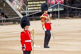 Major General's Review 2013: Senior Drum Major Matthew Betts, Grenadier Guards, leading the Band of the Coldstream Guards.. Horse Guards Parade, Westminster, London SW1,  United Kingdom, on 01 June 2013 at 10:14, image #49