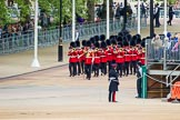 Major General's Review 2013: The Band of the Irish Guards marches down Horse Guards Road, lead by Drum Major Tony Taylor, Coldstream Guards.. Horse Guards Parade, Westminster, London SW1,  United Kingdom, on 01 June 2013 at 10:15, image #52