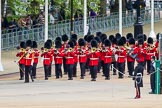 Major General's Review 2013: Drum Major Tony Taylor, Coldstream Guards, leading the second band to arrive at Horse Guards Parade, the Band of the Irish Guards.. Horse Guards Parade, Westminster, London SW1,  United Kingdom, on 01 June 2013 at 10:15, image #53