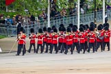 Major General's Review 2013: Drum Major Tony Taylor, Coldstream Guards, leading the second band to arrive at Horse Guards Parade, the Band of the Irish Guards.. Horse Guards Parade, Westminster, London SW1,  United Kingdom, on 01 June 2013 at 10:15, image #54