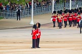 Major General's Review 2013: The third band and the first regiment can just been seen marching along The Mall before turning into Horse Guards Road.. Horse Guards Parade, Westminster, London SW1,  United Kingdom, on 01 June 2013 at 10:23, image #70