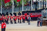 Major General's Review 2013: The third band and the first regiment can just been seen marching along The Mall before turning into Horse Guards Road.. Horse Guards Parade, Westminster, London SW1,  United Kingdom, on 01 June 2013 at 10:23, image #72