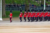 Major General's Review 2013: No. 5 Guard, F Company Scots Guards, is marching to their position on Horse Guards Parade.. Horse Guards Parade, Westminster, London SW1,  United Kingdom, on 01 June 2013 at 10:23, image #76