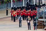Major General's Review 2013: Drum Major D P Thomas, Grenadier Guards, leading the Band of the Grenadier Guards onto Horse Guards Parade.. Horse Guards Parade, Westminster, London SW1,  United Kingdom, on 01 June 2013 at 10:26, image #88