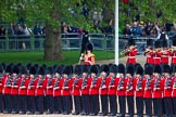 Major General's Review 2013: Drum Major D P Thomas, Grenadier Guards, leading the Band of the Grenadier Guards onto Horse Guards Parade.. Horse Guards Parade, Westminster, London SW1,  United Kingdom, on 01 June 2013 at 10:26, image #90