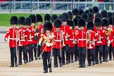 Major General's Review 2013: Drum Major D P Thomas, Grenadier Guards, leading the Band of the Grenadier Guards onto Horse Guards Parade.. Horse Guards Parade, Westminster, London SW1,  United Kingdom, on 01 June 2013 at 10:28, image #100