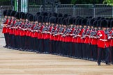Major General's Review 2013: No. 3 Guard,1st Battalion Welsh Guards, getting into position on Horse Guards Parade.. Horse Guards Parade, Westminster, London SW1,  United Kingdom, on 01 June 2013 at 10:28, image #103