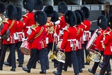 Major General's Review 2013: Drum Major D P Thomas, Grenadier Guards, leading the Band of the Grenadier Guards.. Horse Guards Parade, Westminster, London SW1,  United Kingdom, on 01 June 2013 at 10:29, image #106