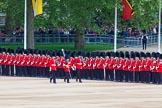 Major General's Review 2013: Colour Sergeant R J Heath, carrying the Colour and two sentries marching to their position on Horse Guards Parade.. Horse Guards Parade, Westminster, London SW1,  United Kingdom, on 01 June 2013 at 10:30, image #112