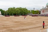 Major General's Review 2013: All six guards reposition to form a single, long, L-shaped line.. Horse Guards Parade, Westminster, London SW1,  United Kingdom, on 01 June 2013 at 10:35, image #147