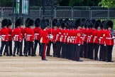 Major General's Review 2013: No. 3 Guard, 1st Battalion Welsh Guards, is opening a gap in the line for members of the Royal Family to arrive.. Horse Guards Parade, Westminster, London SW1,  United Kingdom, on 01 June 2013 at 10:43, image #184