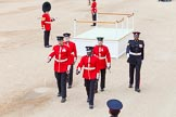 Major General's Review 2013: The dais, the saluting platform for HM The Queen, is moved into place in front of Horse Guards Arch, after the carriages have passed.. Horse Guards Parade, Westminster, London SW1,  United Kingdom, on 01 June 2013 at 10:53, image #213
