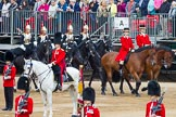 Major General's Review 2013: Two Grooms, The Royal Household.Four Troopers of The Blue and Royals (Royal Horse Guards and 1st Dragoons).. Horse Guards Parade, Westminster, London SW1,  United Kingdom, on 01 June 2013 at 10:59, image #255
