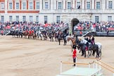Major General's Review 2013: The 'Royal Procession' at the first rehearsal for Trooping the Colour.. Horse Guards Parade, Westminster, London SW1,  United Kingdom, on 01 June 2013 at 11:00, image #264