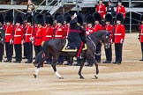 Major General's Review 2013: The head of the Royal Procession during the Inspection of the Line - Bridge Major Household Division Lieutenant Colonel S G Soskin,Grendier Guards followed by four tropper of The Life Guards.. Horse Guards Parade, Westminster, London SW1,  United Kingdom, on 01 June 2013 at 11:02, image #288