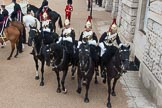 Major General's Review 2013: Four Troopers of The Blue and Royals (Royal Horse Guards and 1st Dragoons).. Horse Guards Parade, Westminster, London SW1,  United Kingdom, on 01 June 2013 at 11:02, image #286