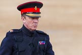 Major General's Review 2013: A Major standing in for Field Marshal the Lord Guthrie of Craigiebank.. Horse Guards Parade, Westminster, London SW1,  United Kingdom, on 01 June 2013 at 11:06, image #307