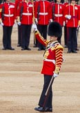 Major General's Review 2013: Drum Major Tony Taylor, Coldstream Guards, leading the Band of the Irish Guards.. Horse Guards Parade, Westminster, London SW1,  United Kingdom, on 01 June 2013 at 11:10, image #322