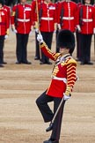 Major General's Review 2013: Drum Major Tony Taylor, Coldstream Guards, leading the Band of the Irish Guards.. Horse Guards Parade, Westminster, London SW1,  United Kingdom, on 01 June 2013 at 11:10, image #323