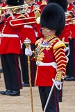 Major General's Review 2013: Drum Major Stephen Staite, Grenadier Guards, leading the Band of the Scots Guards.. Horse Guards Parade, Westminster, London SW1,  United Kingdom, on 01 June 2013 at 11:10, image #327