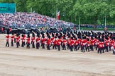 Major General's Review 2013: The Massed Band Troop - the final stages of the countermarch.. Horse Guards Parade, Westminster, London SW1,  United Kingdom, on 01 June 2013 at 11:12, image #340